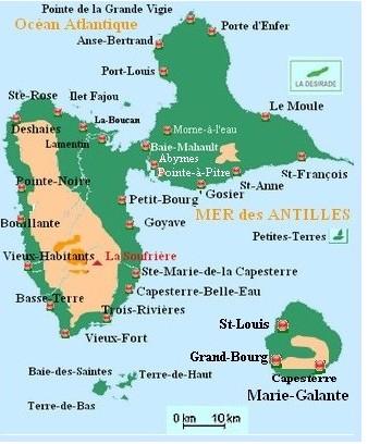 geographie de la guadeloupe