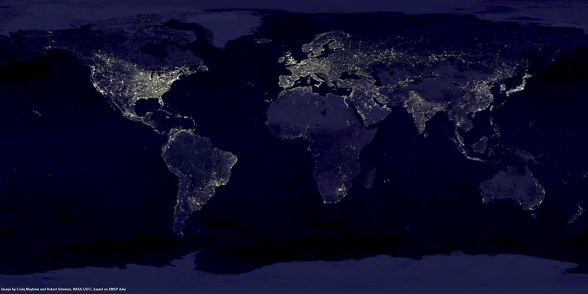 terre la nuit